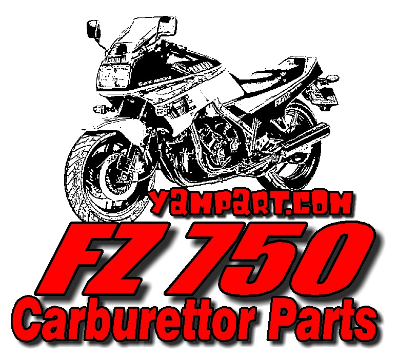 YAMAHA FZ750 CARB CARBURETTOR PARTS MAIN JET FLOAT NEEDLE VALVE DIAPHRAGM PILOT AIR SCREW INTAKE RUBBERS YAMPART.COM
