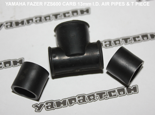 YAMAHA FAZER FZS 600 CARBURETTOR AIR PIPES AND T CONNECTOR YAMPART.COM - Copy