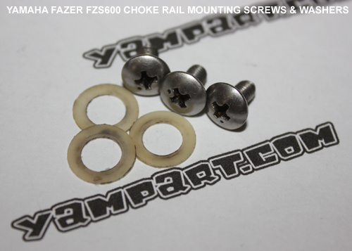YAMAHA FAZER FZS 600 CARBURETTOR CHOKE RAIL MOUNTING SCREWS AND WASHERS YAMPART.COM - Copy