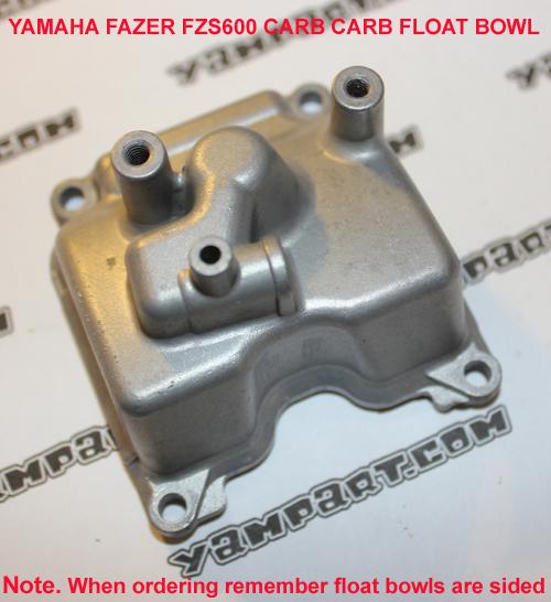 YAMAHA FAZER FZS 600 CARBURETTOR FLOAT BOWL 3 YAMPART.COM