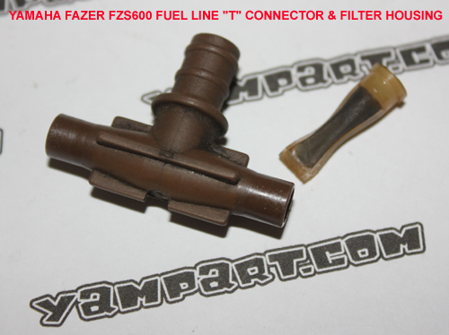 YAMAHA FAZER FZS 600 CARBURETTOR FUEL LINE T CONNECTOR AND FILTER HOUSING YAMPART.COM - Copy