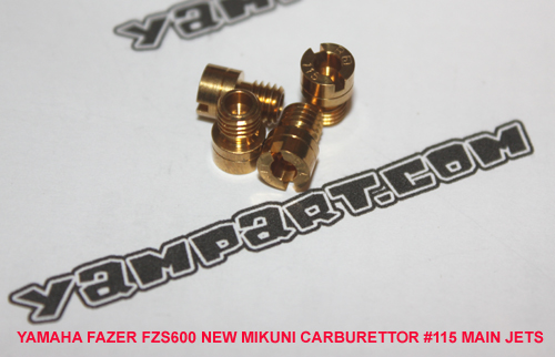 YAMAHA FAZER FZS 600 NEW MIKUNI CARBURETTOR 115 MAIN JETS YAMPART.COM