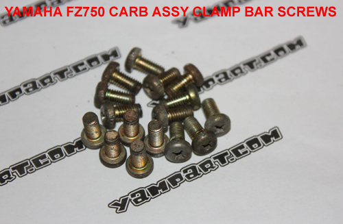 YAMAHA FZ750 CARB CARBURETTOR ASSY CLAMP BAR SCREWS YAMPART.COM - Copy