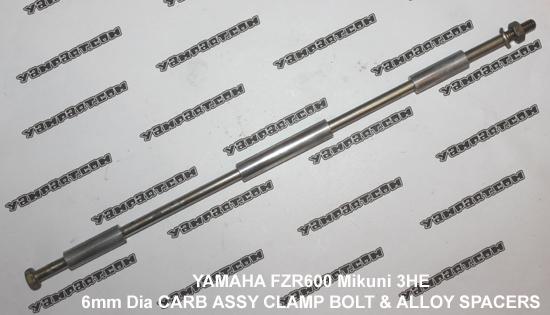 YAMAHA FZR 600 MIKUNI 3HE CARB CARBURETTOR ASSY CLAMP BOLT 6mm DIAMETER C YAMPART.COM - Copy