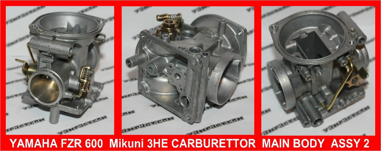 YAMAHA FZR 600 MIKUNI 3HE CARB CARBURETTOR BODY ASSY #2 YAMPART.COM - Copy