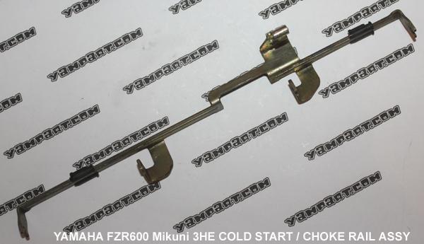 YAMAHA FZR 600 MIKUNI 3HE CARB CARBURETTOR CHOKE RAIL COLD START ASSY YAMPART.COM - Copy