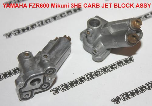 YAMAHA FZR 600 MIKUNI 3HE CARB CARBURETTOR JET BLOCK ASSY YAMPART.COM - Copy