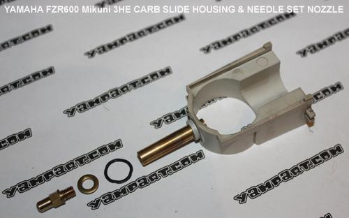YAMAHA FZR 600 MIKUNI 3HE CARB CARBURETTOR SLIDE HOUSING & NEEDLE SET NOZZLE YAMPART.COM - Copy