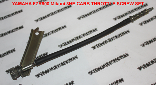 YAMAHA FZR 600 MIKUNI 3HE CARB CARBURETTOR THROTTLE SCREW SET YAMPART.COM - Copy
