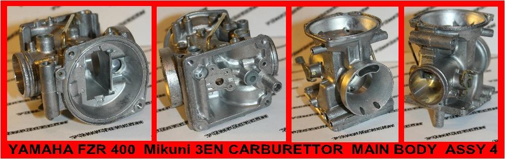 YAMAHA FZR 400 MIKUNI 3EN CARB CARBURETTOR BODY ASSY #4 YAMPART.COM - Copy