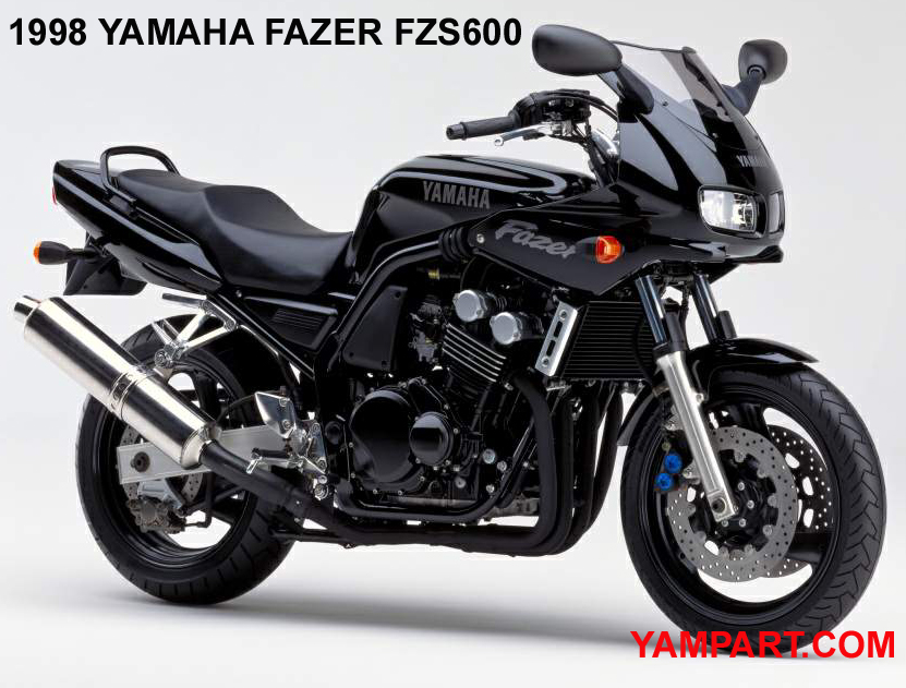 1998 YAMAHA FAZER FZS 600 BLACK USED PARTS YAMPART.COM - Copy
