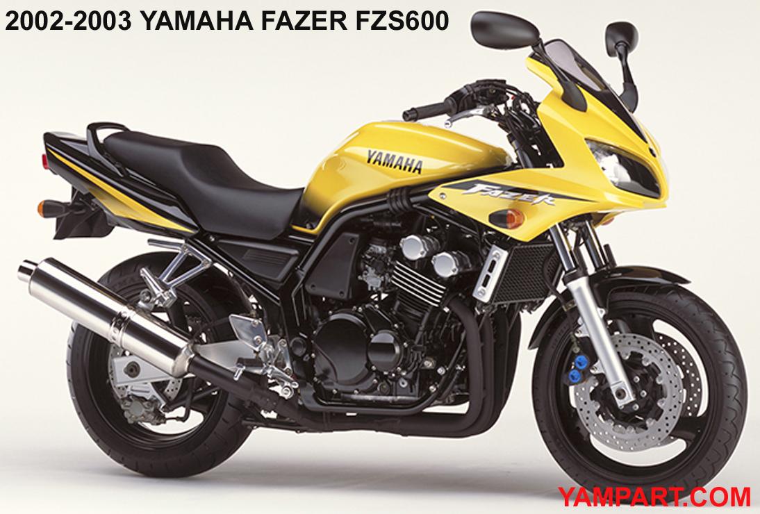 2002 2003 YAMAHA FAZER FZS600 YAMPART.COM