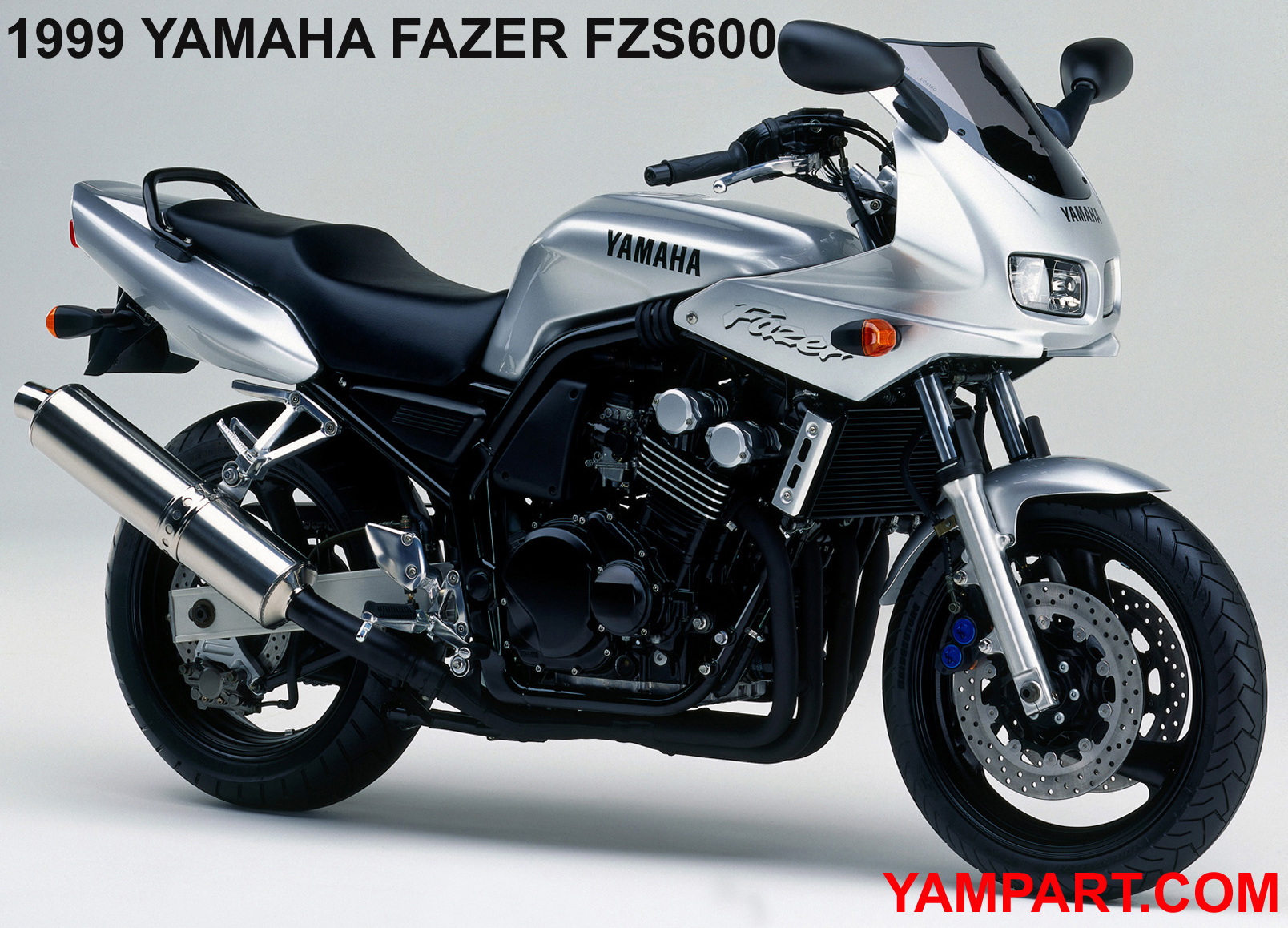 ORIGINAL 1999 SILVER YAMAHA FAZER FZS 600 USED PARTS YAMPART.COM
