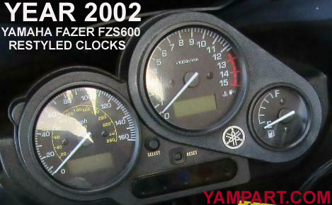 2002 YAMAHA FZS600 CLOCKS SPEEDO REV COUNTER USED PARTS YAMPART.COM