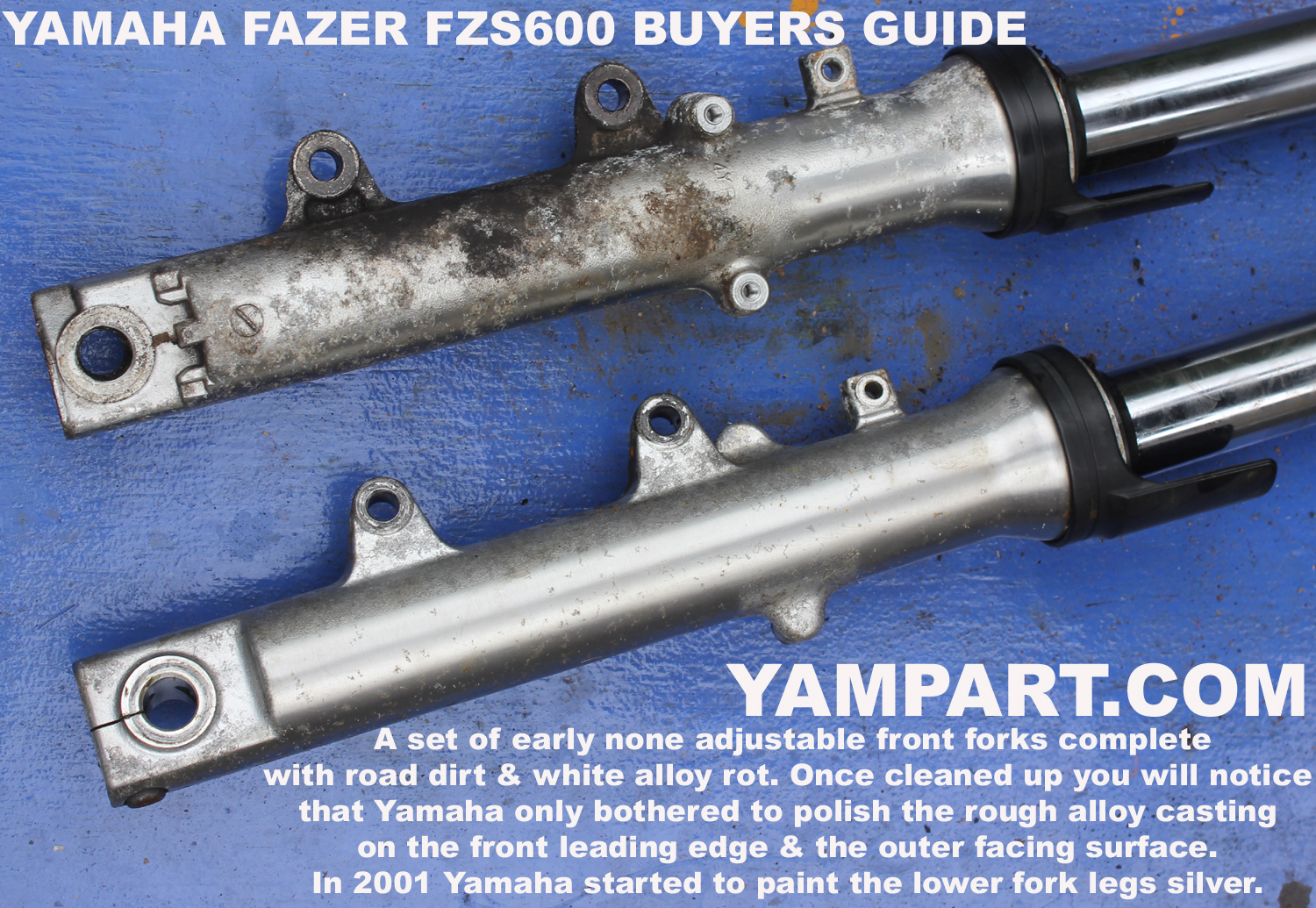 YAMAHA FAZER FZS 600 BUYERS GUIDE 1998 FRONT FORKS YAMPART.COM UESD PARTS