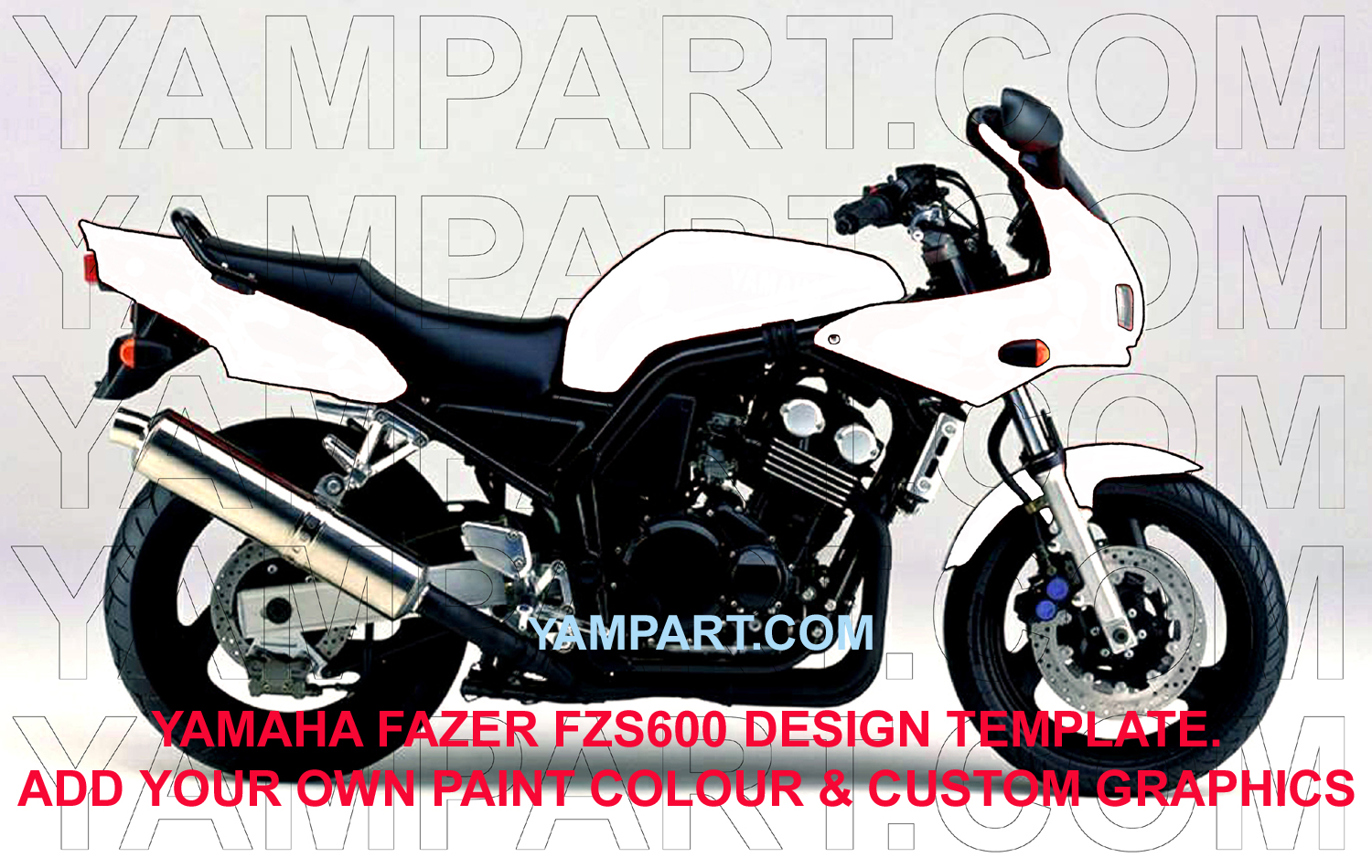 YAMAHA FAZER FZS600 CUSTOM GRAPHICS STICKERS PAINT JOB DESIGN TEMPLATE YAMPART.COM
