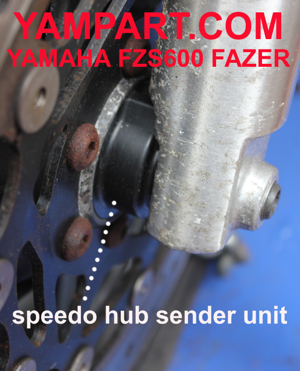 YAMAHA FAZER FZS600 FRONT WHEEL MOUNTED SPEEDO SENDER UNIT YAMPART.COM