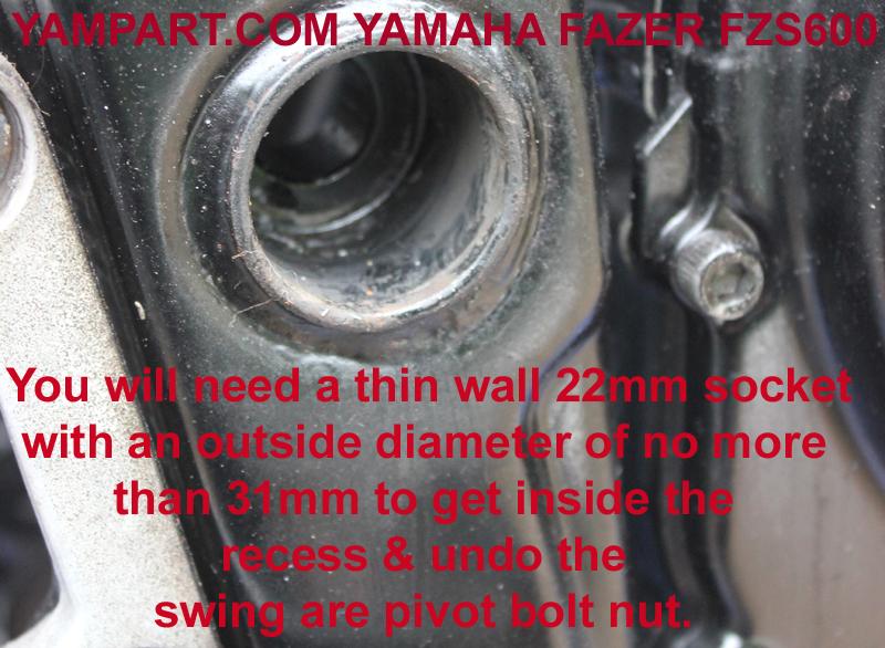 yamaha fazer fzs 600 swing arm piviot bolt nut yampart.com